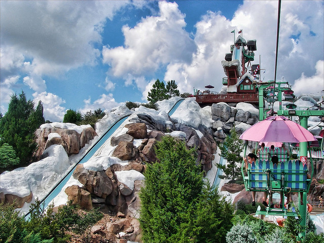 Disney's Blizzard Beach Water Park slide
