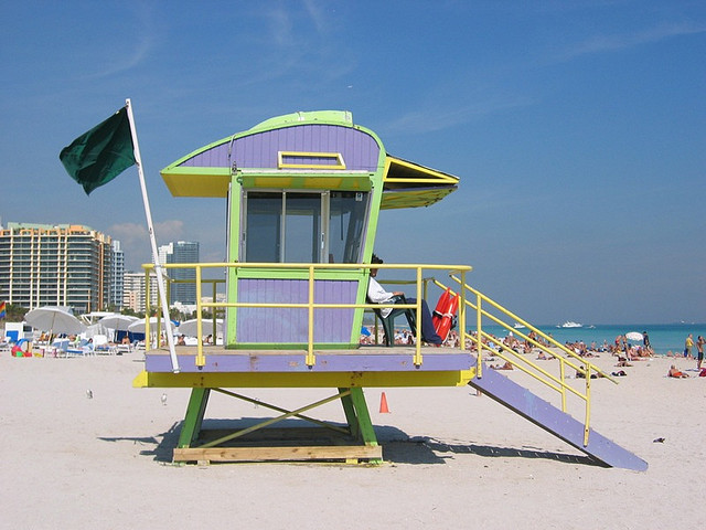 South Beach, Miami, Lifeguard tower