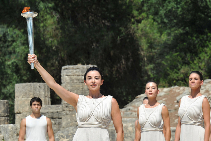 Mount Olympia, home of the Olympic flame, Greece