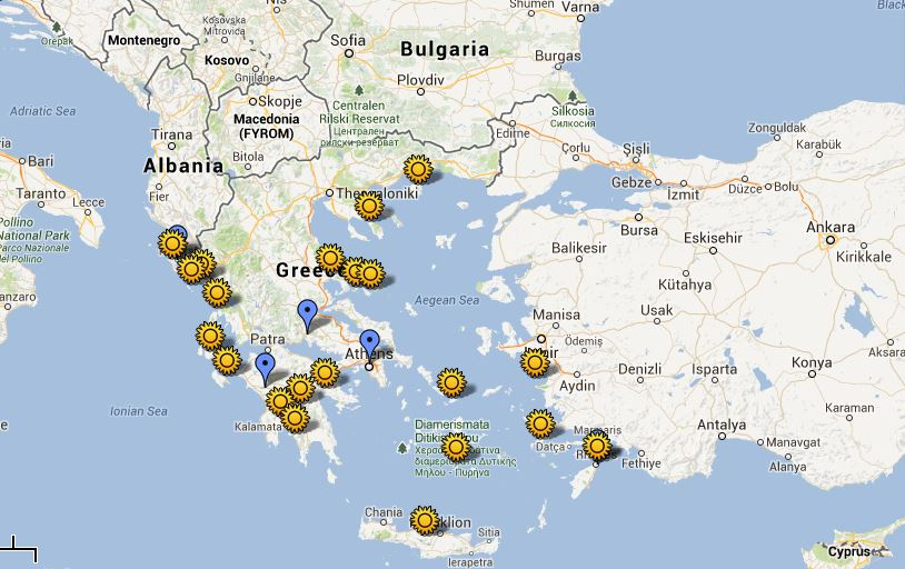 interactive map of ancient greece the best sites to visit