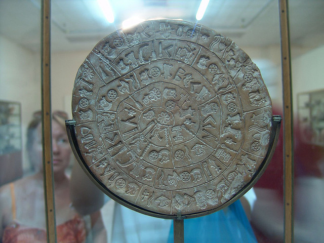 Phaistos Disc from the Minoan palace in Crete