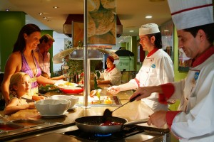 chefs cooking at all inclusive resort in Mallorca