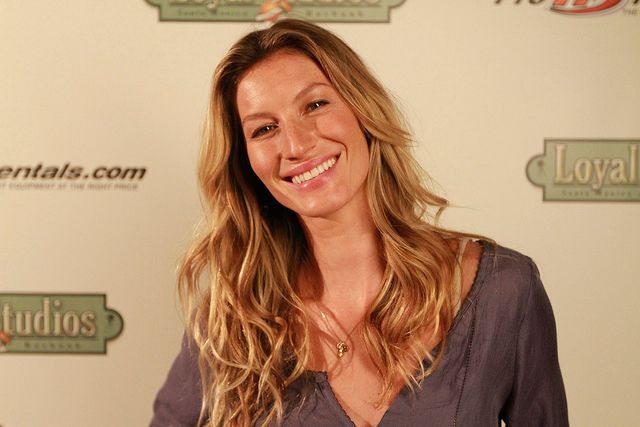 Brazilian supermodel Gisele has taken helicopter lessons