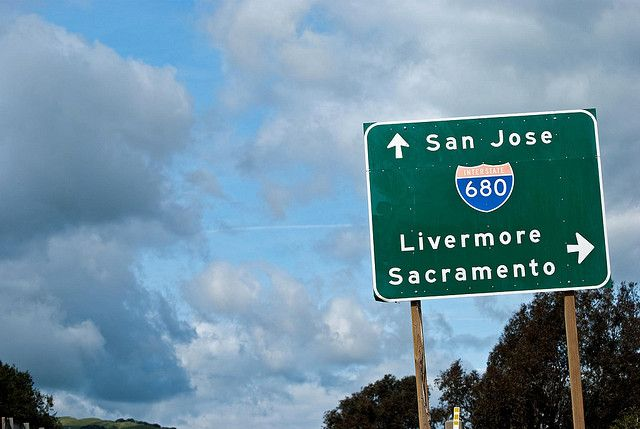 This is pointing to Sacramento in California. Not Mexico.