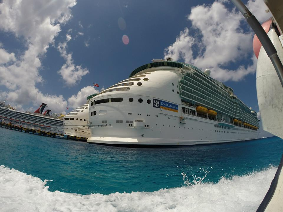 Cruise Liner at the port in Cozumel