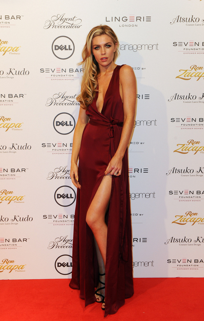Abby Clancy on the red carpet at Lingerie london