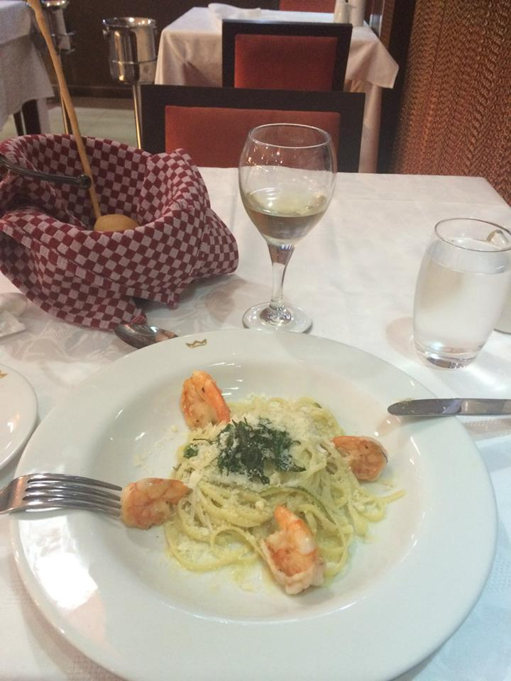 Shrimp linguine - Italian A la Carte restaurant
