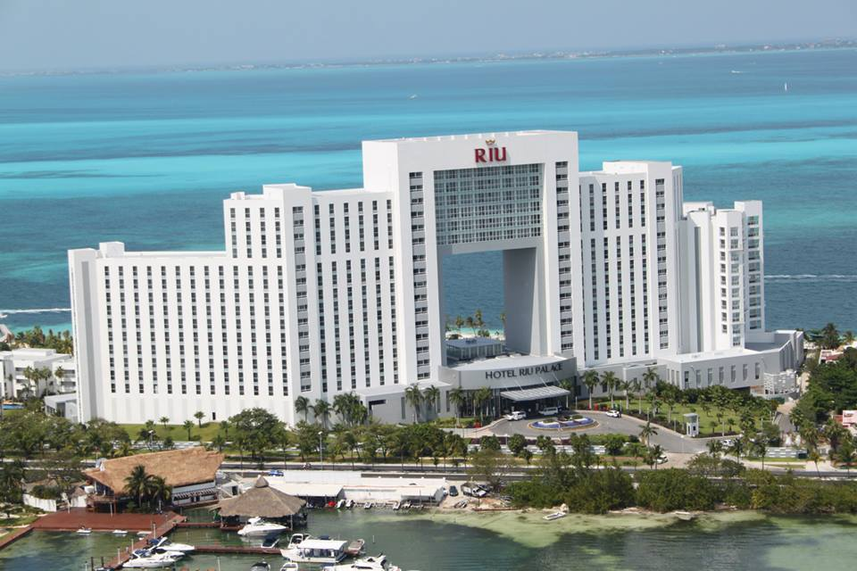 Riu Palace Peninsula from the air
