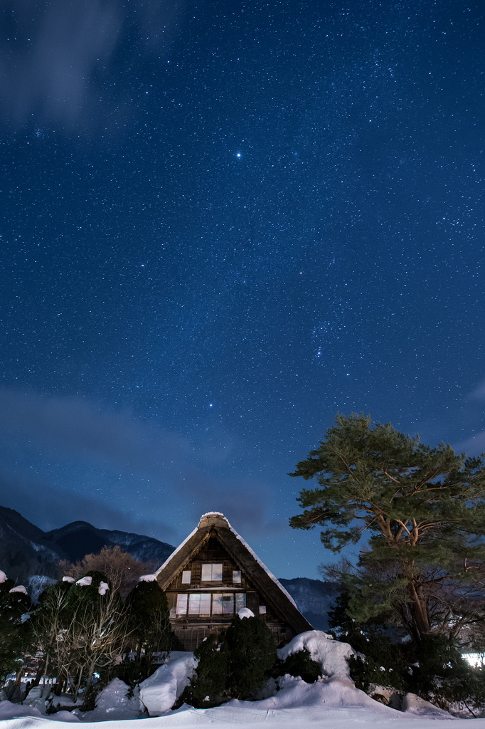 Stars in Shirakawago