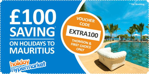 SAVE £100 off holidays to Mauritius