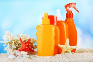 sun screen bottles