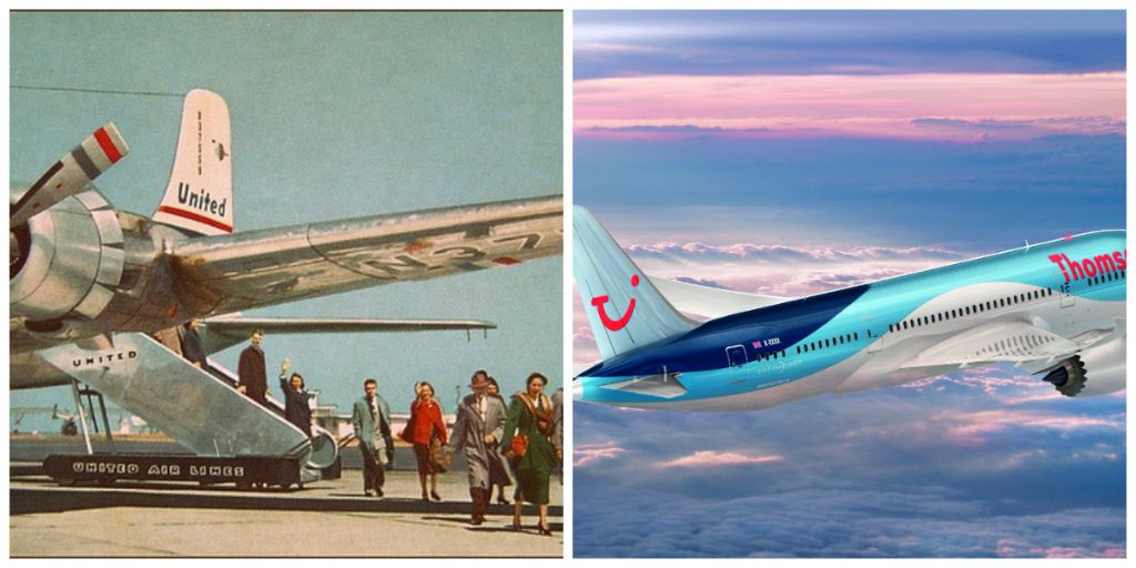 Collage Air Travel