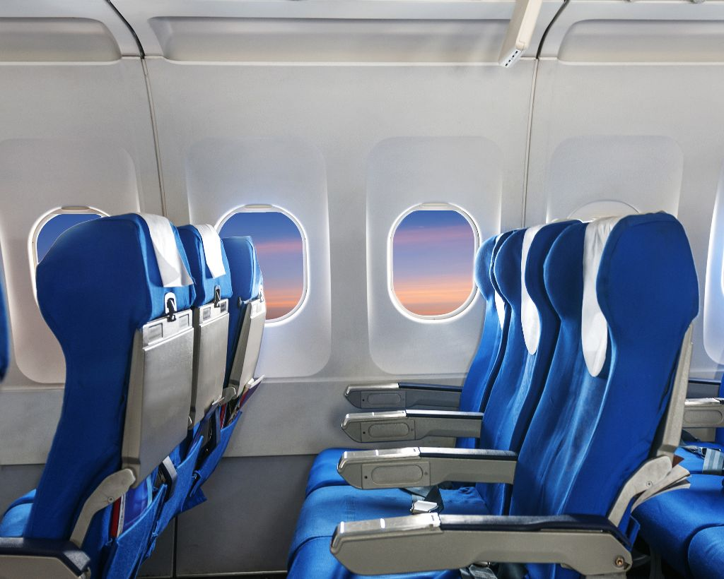 Empty seats on aircraft