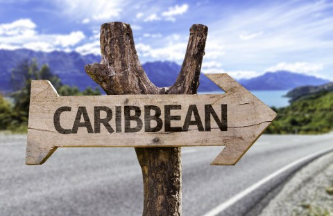 Caribbean wooden sign