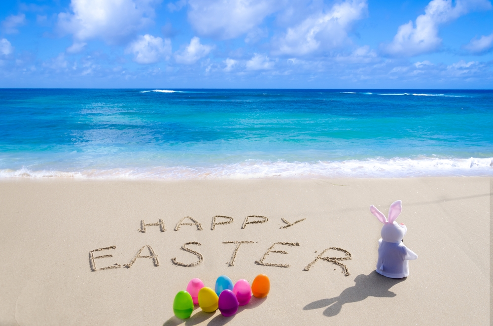 Easter in the sand