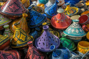 Tagines in Market
