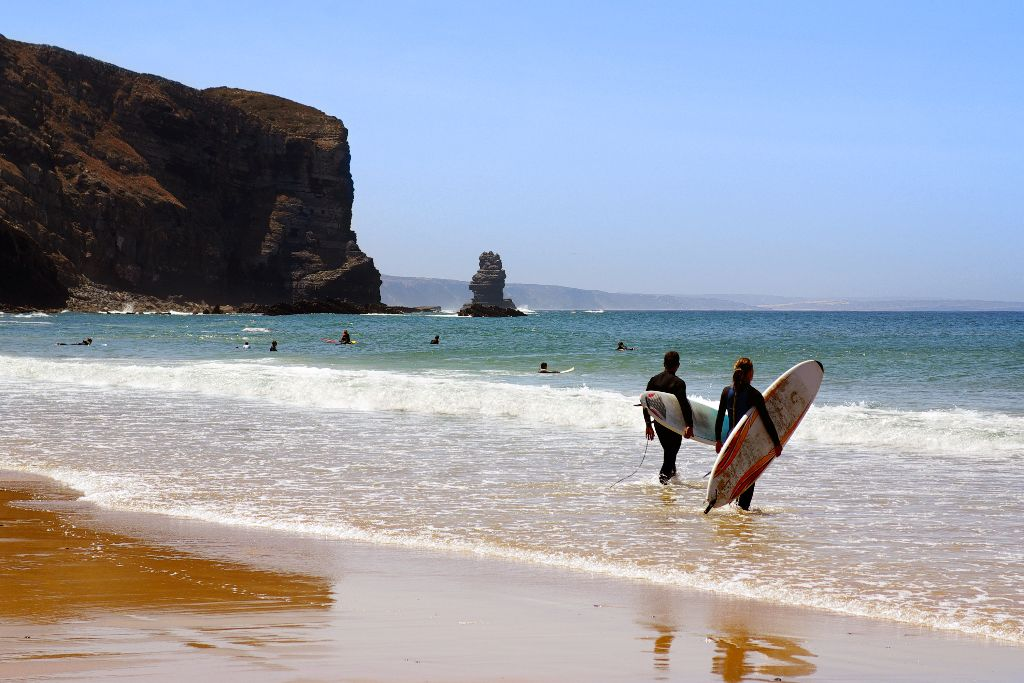 Surfers in Portugal