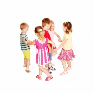 Group of kids dancing