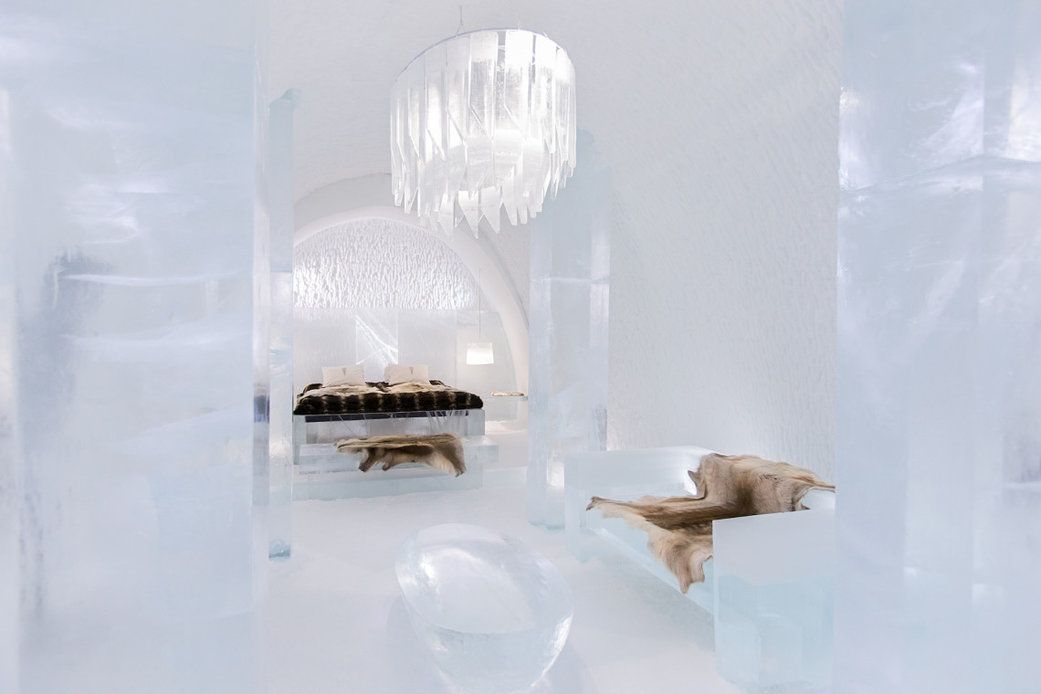 "ART & DESIGN book 2015, ICEHOTEL, iCelebrate25, Luxury suite ""Tolackuntur"" Design by Javier Opazo and Cristian Winckler."
