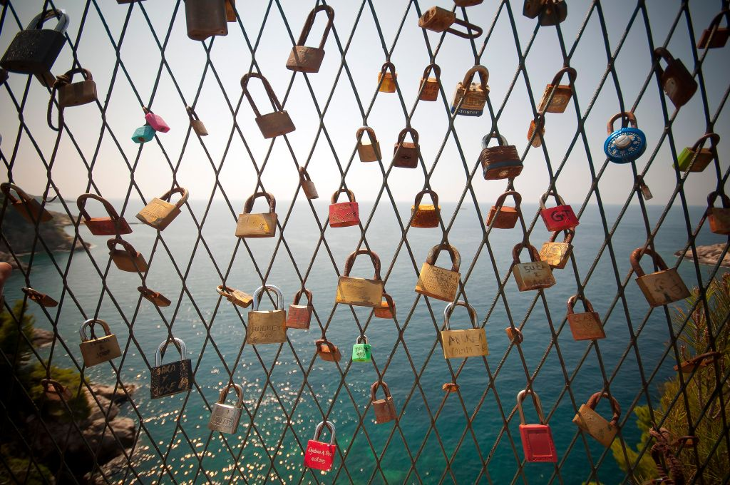 Love locks Croatia