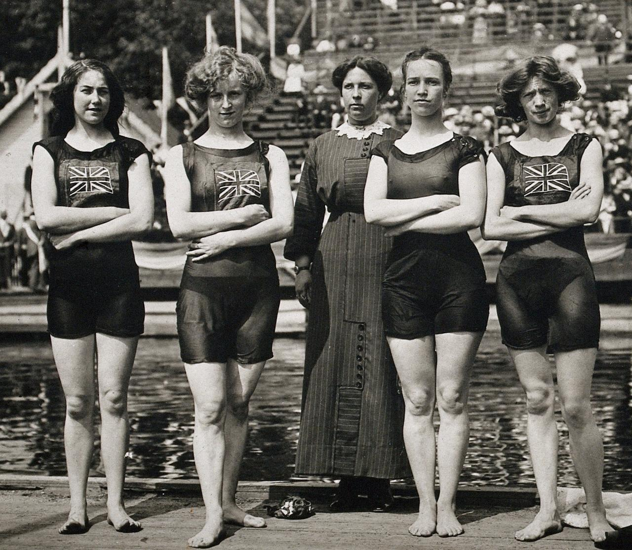 womens olympic swimming team 1912