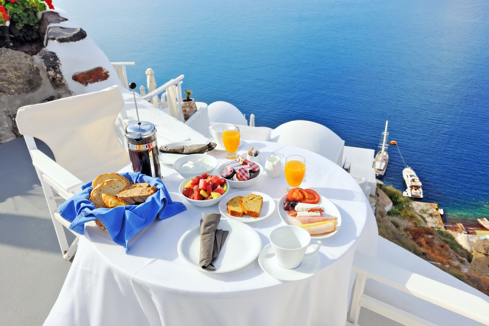 Breakfast in Oia Santorini