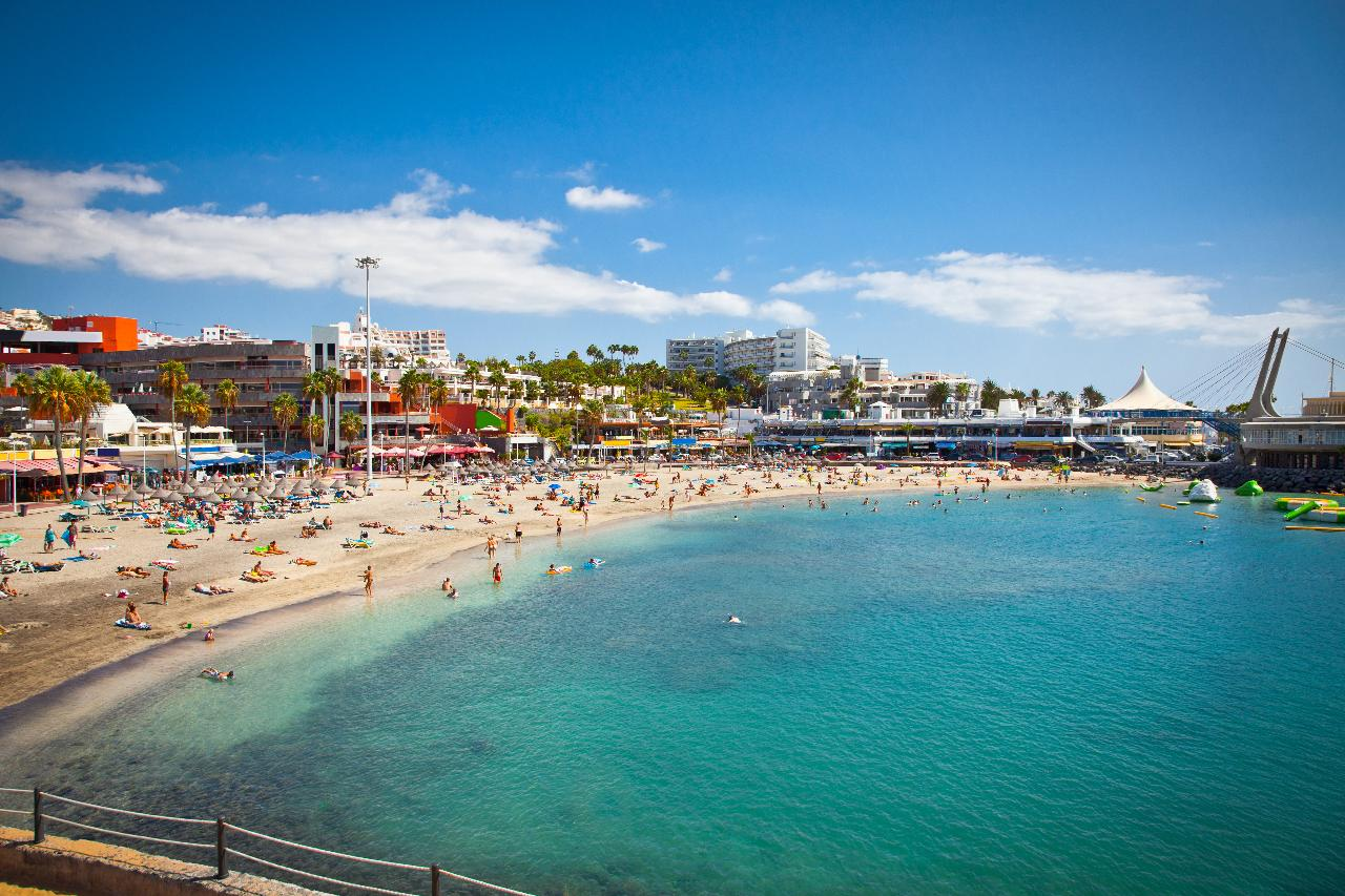 Sandy beach in Costa Adeje, Tenerife