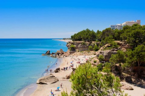 Sandy beach Miami Platja, Spain
