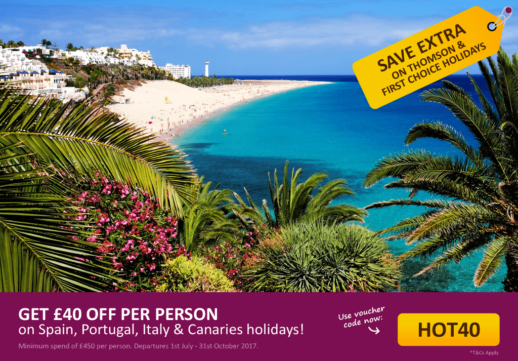 Save an extra £40pp off your holiday