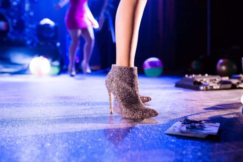 sparkly heeled boots