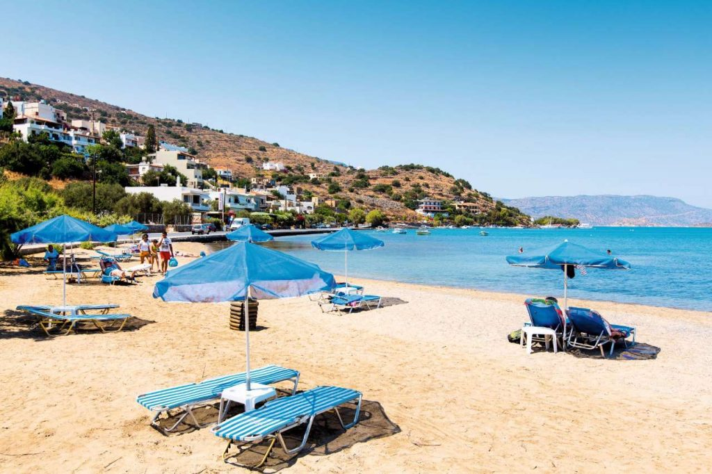Beach, Elounda, Crete, Greece
