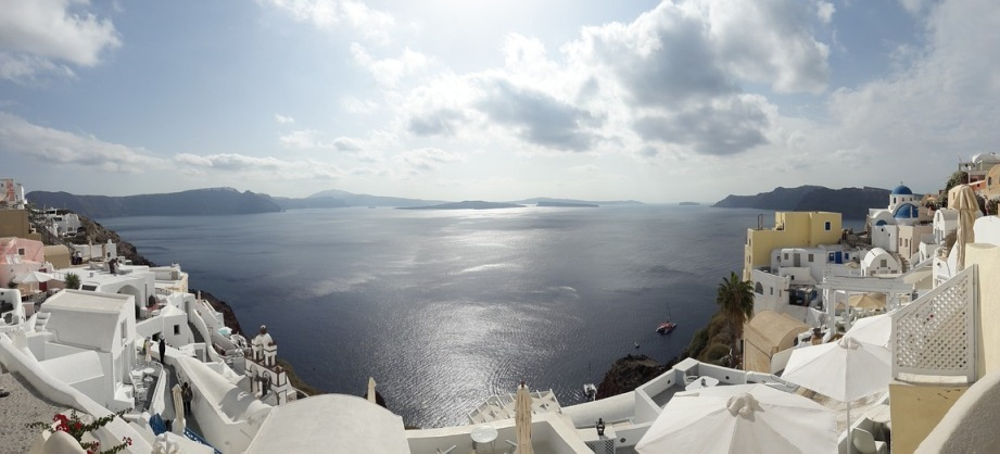 Santorini caldera views