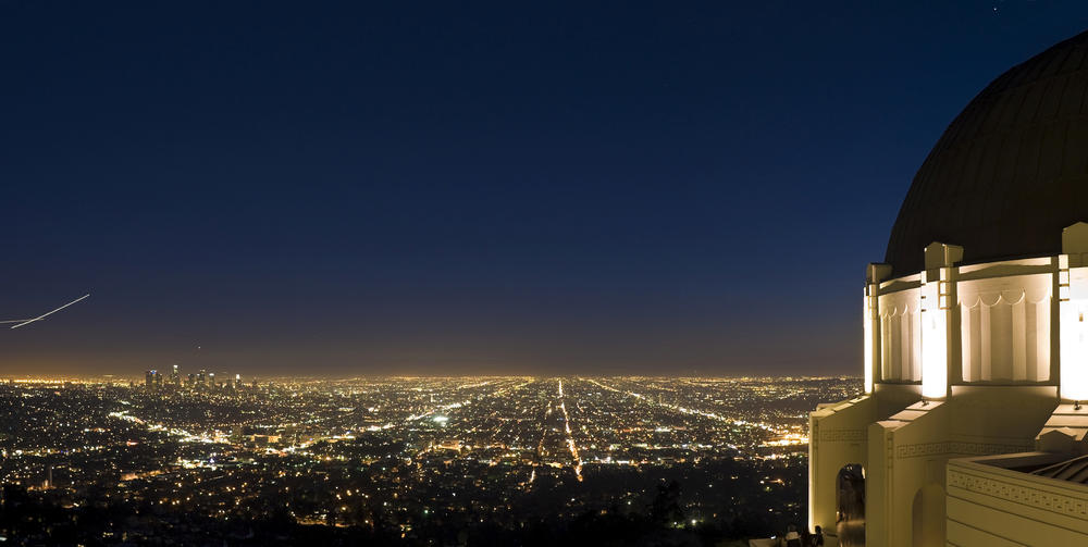 Griffith Observatory views at night